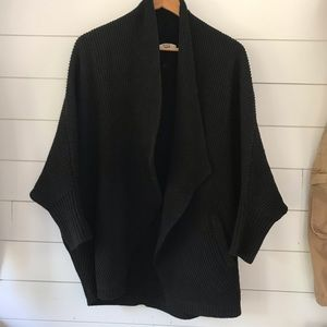 Madewell knit cardigan sweater black